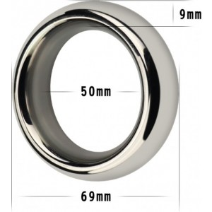 "Stainless Steel Cockring 2"" LoveToy"