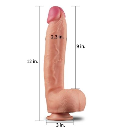 12 Inch Dual Layer King Sized Cock