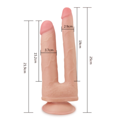 Skinlike Double Penetration Soft Cock